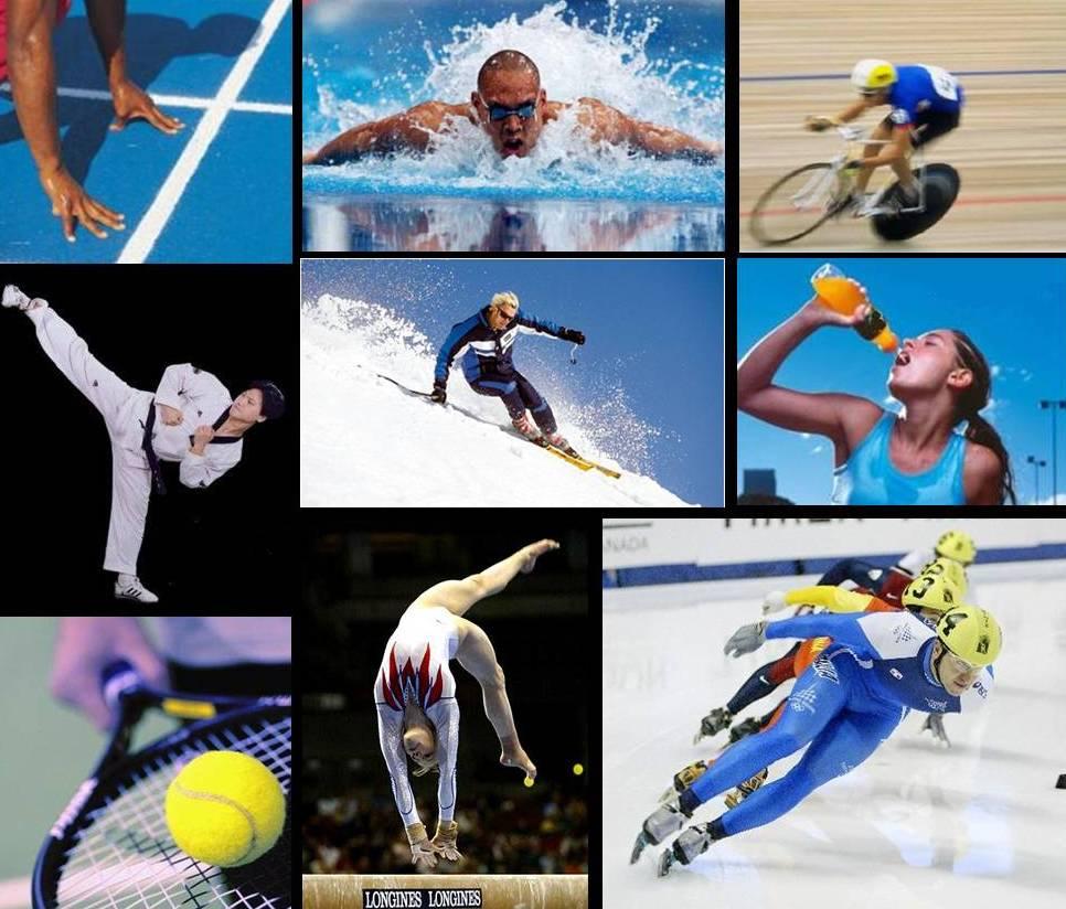 спорта много